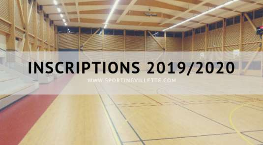 Inscription 2019 / 2020